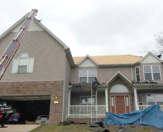 Storm Damage Roof Repair Maryland Heights MO - Edwards Roofing - construction